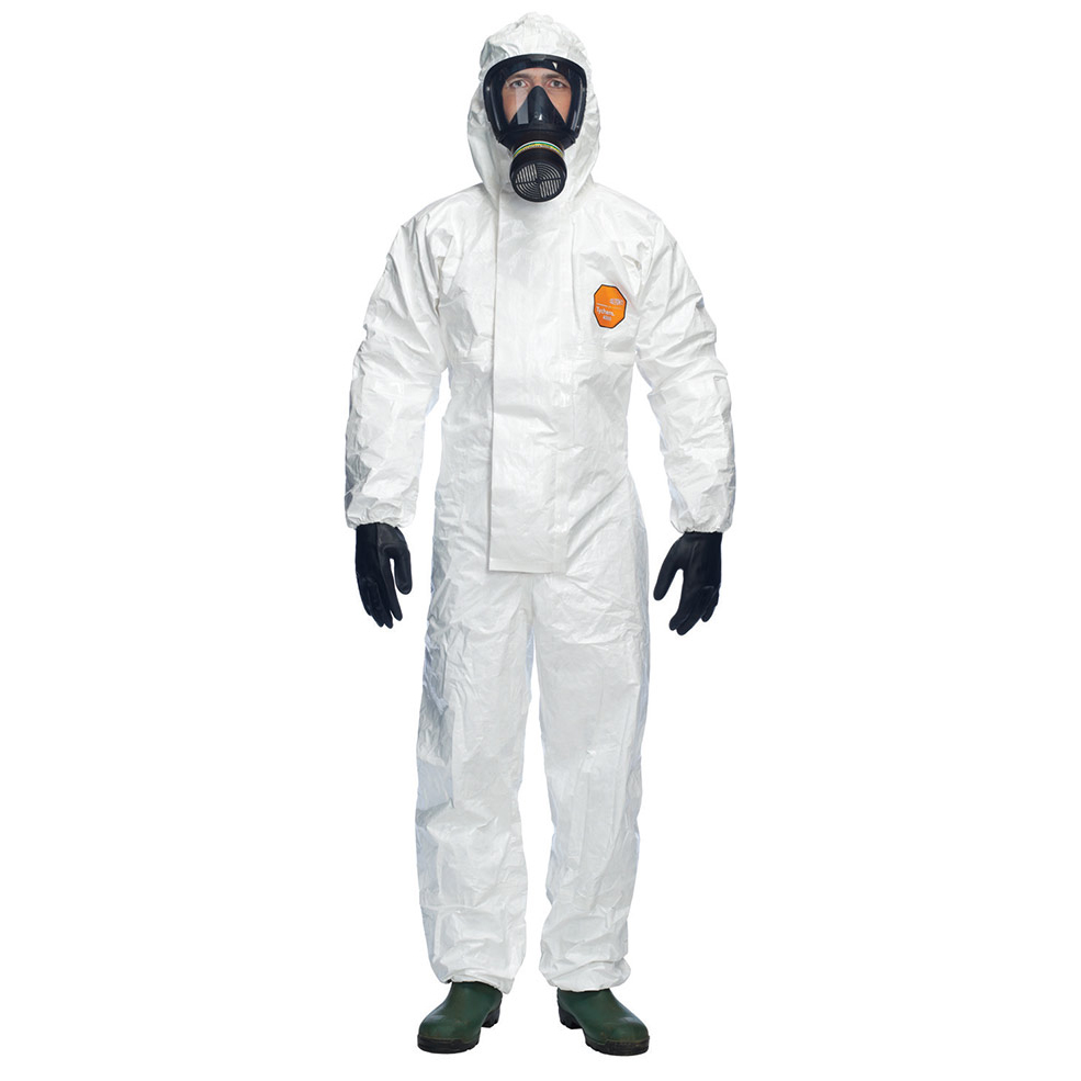 Protective coveralls Tychem 4000S CHZ5 Hooded Coverall White 2XL Ref TY4000BSXXL *Up to 3 Day Leadtime*