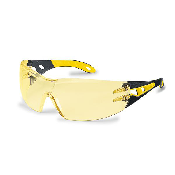 Safety glasses Uvex Pheos Safety Spec Yellow Ref 9192-385 Pack 5 *Up to 3 Day Leadtime*