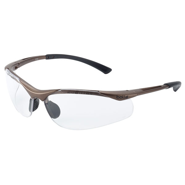 Bolle Contour Platinum Clear Safety Glasses Ref BOCONTPSI [Pack 10] *Up to 3 Day Leadtime*