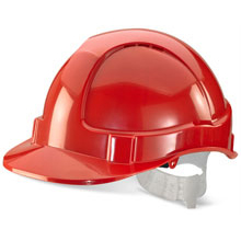 BBrand Economy Vented Safety Helmet Red*Up to 3 Day Leadtime*