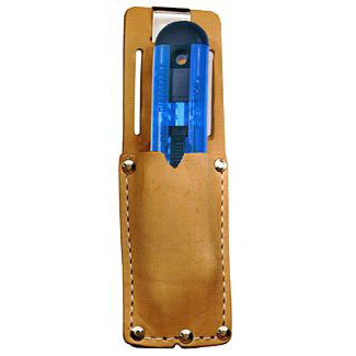 Pacific Handy Cutter Clip On Holster Leather Metal Belt Clip Brown Ref UKH-326 Up to 3 Day Leadtime