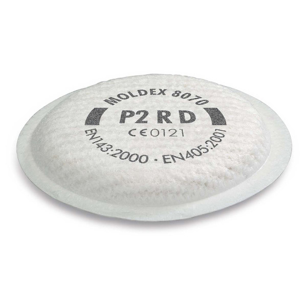 Moldex 8070 P2 R D Filter White Ref M8070 [4 Pairs] Up to 3 Day Leadtime