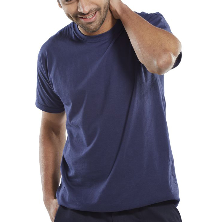 Click Workwear T-Shirt 150gsm Large Navy Blue Ref CLCTSNL Up to 3 Day Leadtime