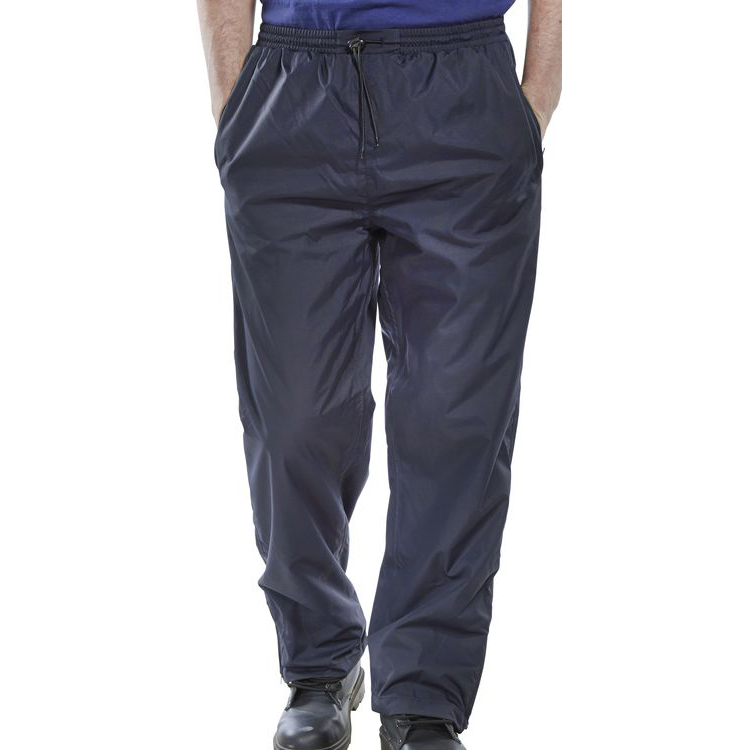 B-Dri Weatherproof Springfield Trousers Breathable Nylon L Navy Blue Ref STNL *Up to 3 Day Leadtime*