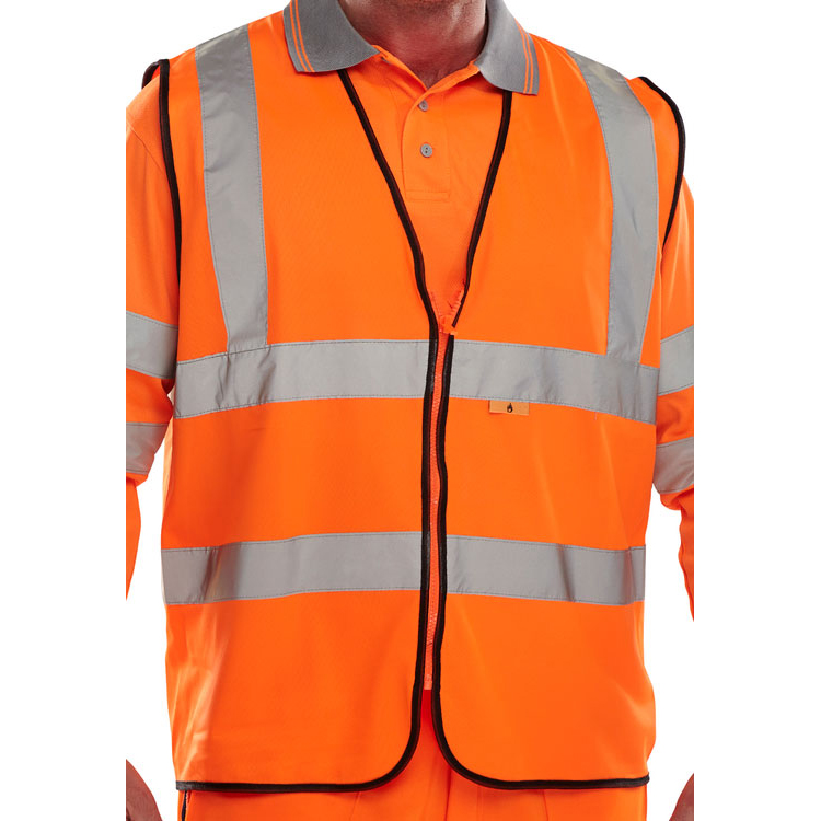 High Visibility Click Fire Retardant Hi-Vis Waistcoat Polyester3XL Orange Ref CFRWCORXXXL *Up to 3 Day Leadtime*