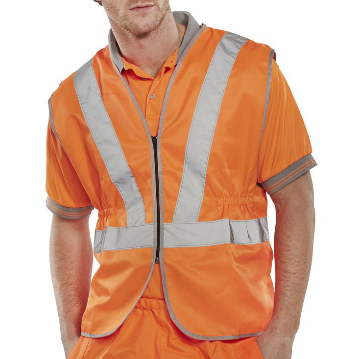 High Visibility B-Seen High Visibility Railspec Standard Vest 2XL Orange Ref RSV02XXL *Up to 3 Day Leadtime*