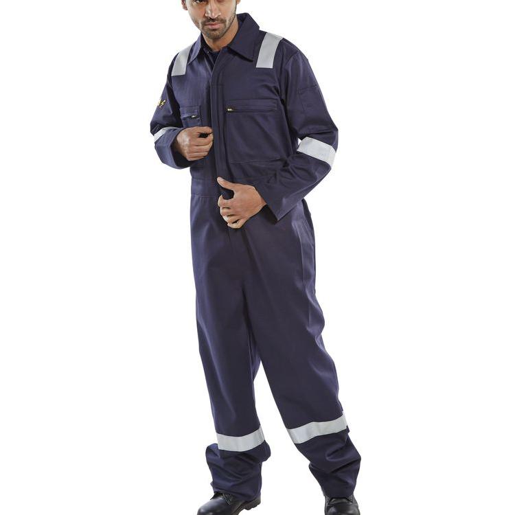Limitless Click Fire Retardant Burgan Boilersuit Anti-Static Size 42 Navy Ref CFRASBBSN42 *Up to 3 Day Leadtime*