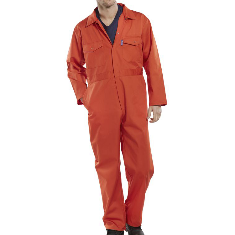 Protective coveralls Click Workwear Boilersuit Size 40 Orange Ref PCBSOR40 *Up to 3 Day Leadtime*