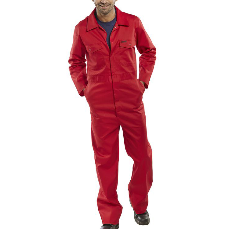 Protective coveralls Click Workwear Boilersuit Red Size 40 Ref PCBSRE40 *Up to 3 Day Leadtime*