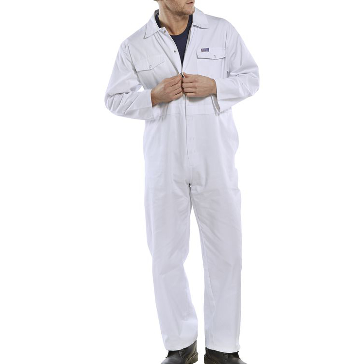 Protective coveralls Click Workwear Boilersuit White Size 40 Ref PCBSW40 *Up to 3 Day Leadtime*