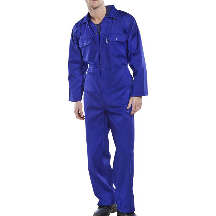 Protective coveralls Click Workwear Regular Boilersuit Royal Blue Size 46 Ref RPCBSR46 *Up to 3 Day Leadtime*