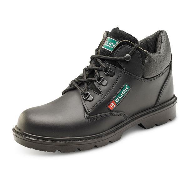 Limitless Click Footwear Leather Mid Cut Midsole Boot PU/Leather Size 12 Black Ref CF4BL12 *Up to 3 Day Leadtime*
