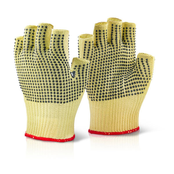Limitless Click Kutstop Kevlar Fingerless Dotted Glove 09 Ref KFLGMWD09 Pack 10 *Up to 3 Day Leadtime*