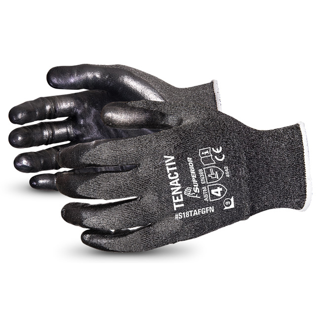 Limitless Superior Glove Tenactiv Filament Fibre Lev-5 Cut-Resist 9 Black Ref SUS18TAFGFN09 *Up to 3 Day Leadtime*