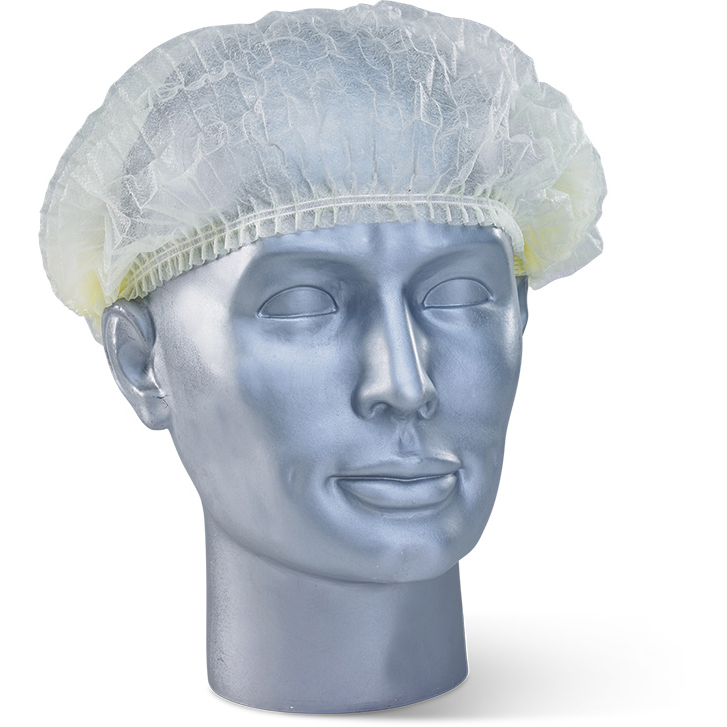 Protective hair net Click Once Disposable Mob Cap Woven Yellow Ref DMCY Pack 1000 *Up to 3 Day Leadtime*