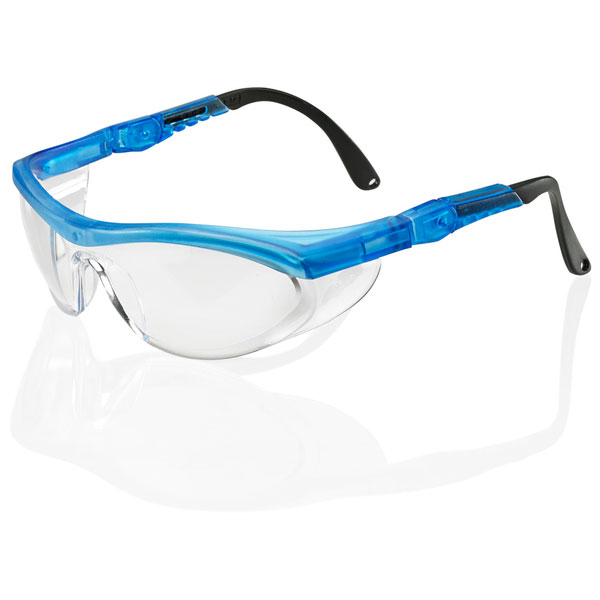BBrand Utah Safety Spectacles Clear/Blue Ref BBUTSBF [Pack 10] Up to 3 Day Leadtime