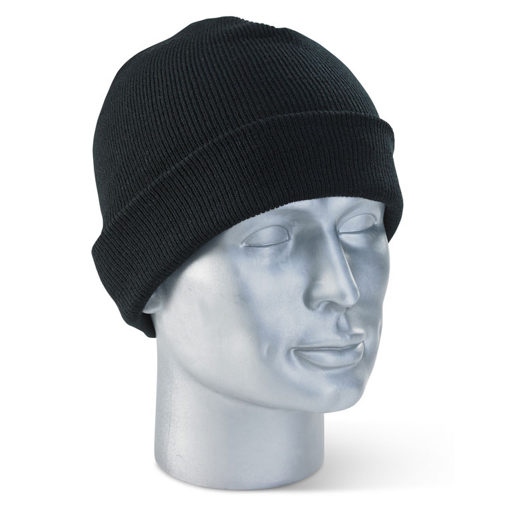 Click Workwear Watch Beenie Hat Black Ref WHBL [Pack 10] *Up to 3 Day Leadtime*