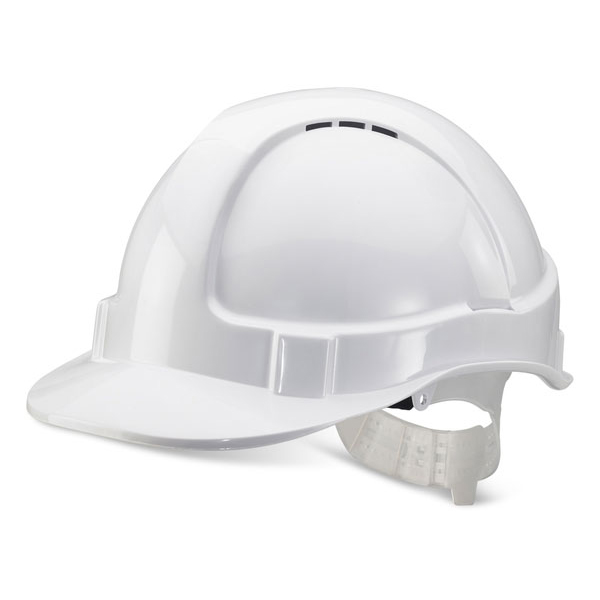 Limitless B-Brand Economy Vented Safety Helmet White Ref BBEVSHW *Up to 3 Day Leadtime*
