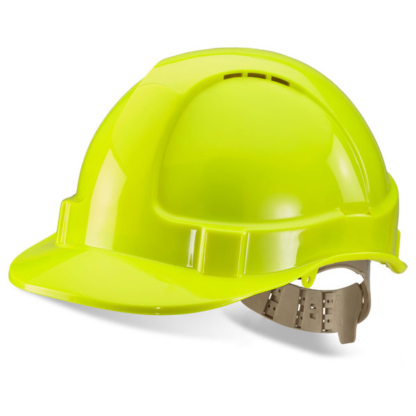 Limitless B-Brand Comfort Vented Safety Helmet Saturn Yellow Ref BBVSHSY *Up to 3 Day Leadtime*