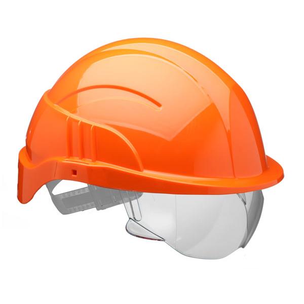 Limitless Centurion Vision Plus Safety Helmet Integrated Visor Orange Ref CNS10PLUSEORA *Up to 3 Day Leadtime*