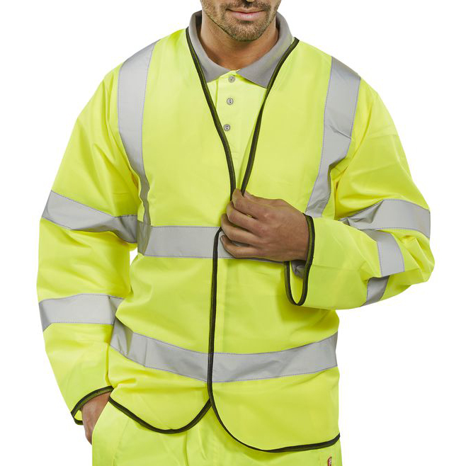 Bodywarmers B-Seen High Visibility Long Sleeve Jerkin 4XL Orange Ref PKJENG4XL *Up to 3 Day Leadtime*