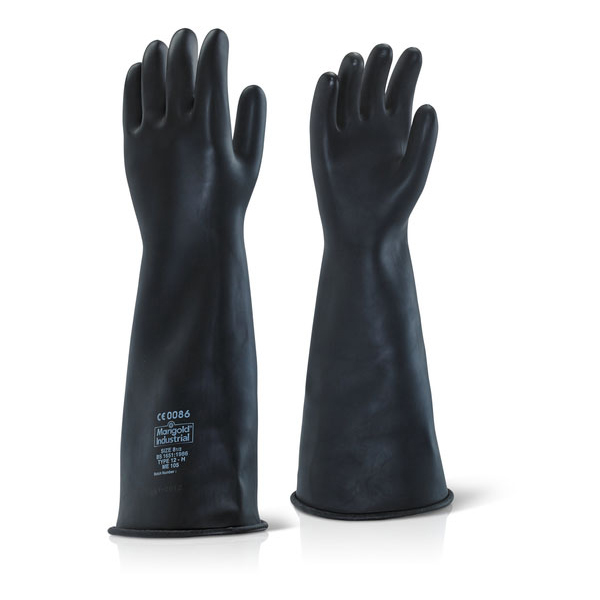 Hand Protection Ansell Industrial Latex Heavy Weight 17inch Gauntlet Size 10 Black Ref ILHW1710 *Up to 3 Day Leadtime*