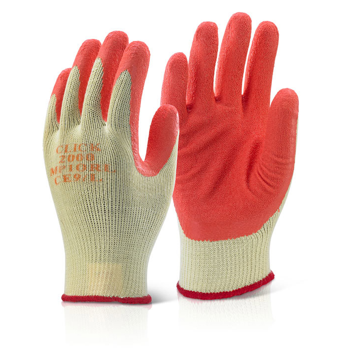Limitless Click2000 Multi-Purpose Gloves Latex XL Orange Ref MP1ORXL Pack 100 *Up to 3 Day Leadtime*