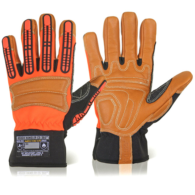 Hand Protection Mecdex Rough Handler C5 360 Mechanics Glove M Ref MECPR-610M *Up to 3 Day Leadtime*