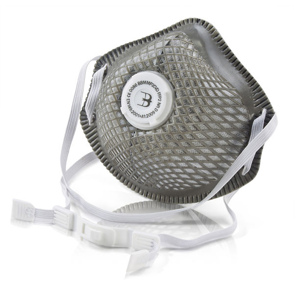 B-Brand P2 Vented Mesh Cup Mask Charcoal Ref BBMMP2CVD [Pack 10] *Up to 3 Day Leadtime*