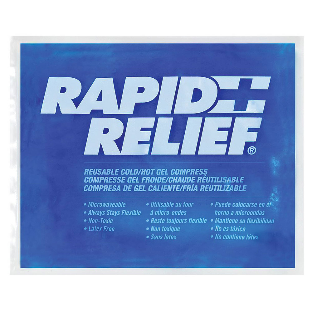 Rapid Relief Reusable Hot/Cold Gel Compress C/W Contour Gel 9in x 11in Ref RA12290 Up to 3 Day Leadtime