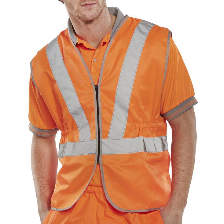 Bodywarmers B-Seen High Visibility Railspec Standard Vest 3XL Orange Ref RSV02XXXL *Up to 3 Day Leadtime*