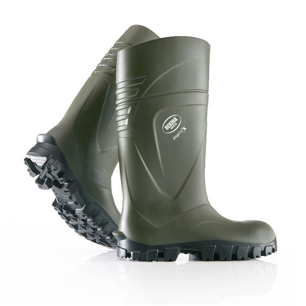 Bekina Steplite X Safety Wellington Boots Size 7 Green Ref BNX2400-918007 *Up to 3 Day Leadtime*