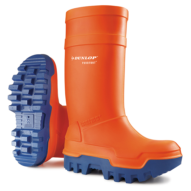 Dunlop Purofort Thermo Plus Safety Wellington Boot Size 13 Orange Ref C66234313 *Up to 3 Day Leadtime*