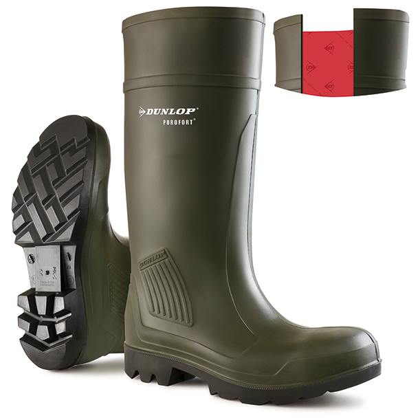 Dunlop Purofort Professional Wellington Boot Size 8 Green Ref D46093308 *Up to 3 Day Leadtime*