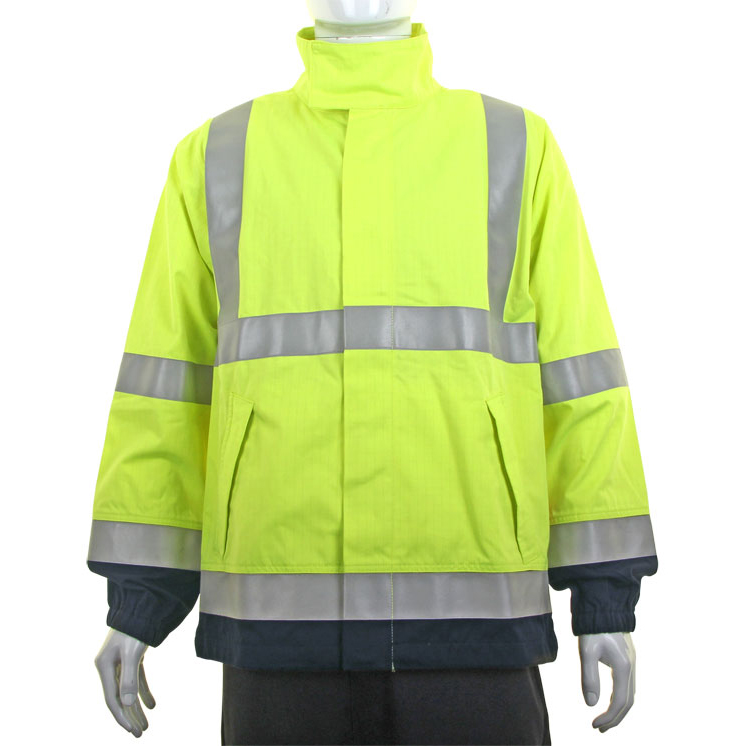 Bodywarmers Click ARC High-Vis Two Tone Woven Jacket Medium Saturn Yellow/Navy Ref CARC925SYNM *Up to 3 Day Leadtime*