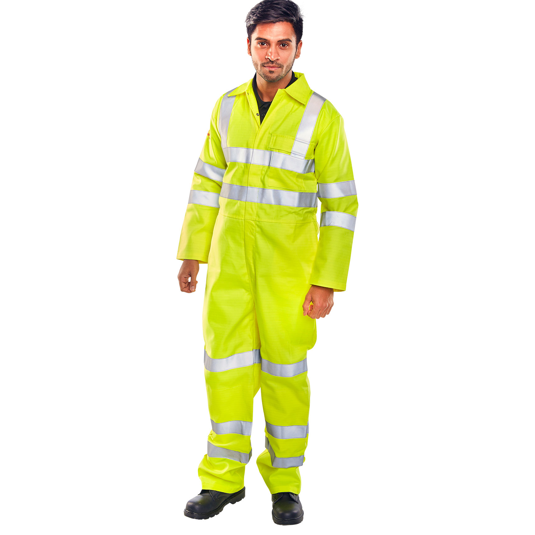 Click Fire Retardant Tesla Boilersuit Hi-Vis EN471 Size 52 Yell Ref CFRASTEBSSY52 *Up to 3 Day Leadtime*