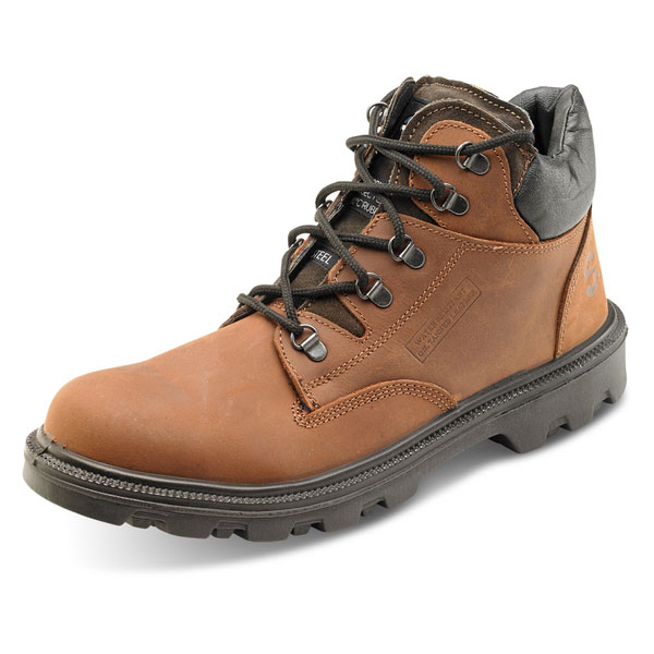 Click Footwear Sherpa Dual Density PU/Rubber Mid Cut Boot 8 Brown Ref SCBBR08 *Up to 3 Day Leadtime*