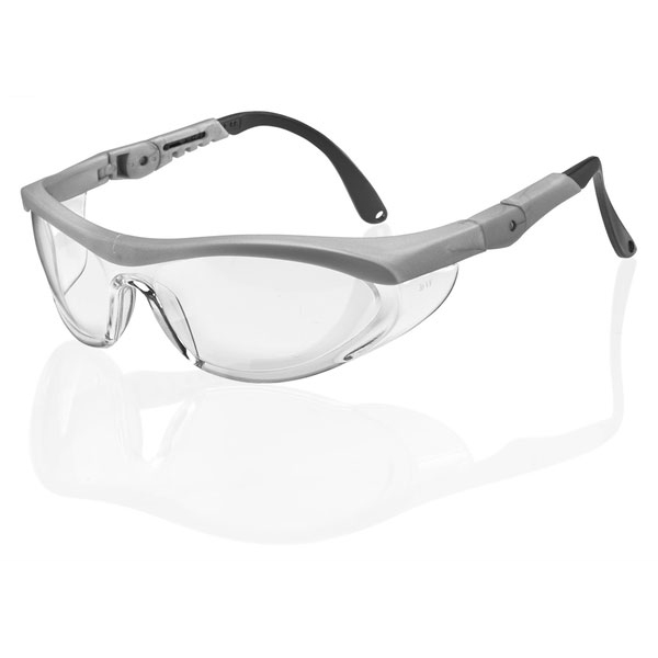 B-Brand Utah Safety Spectacles Clear/Grey Ref BBUTSGYF [Pack 10] *Up to 3 Day Leadtime*