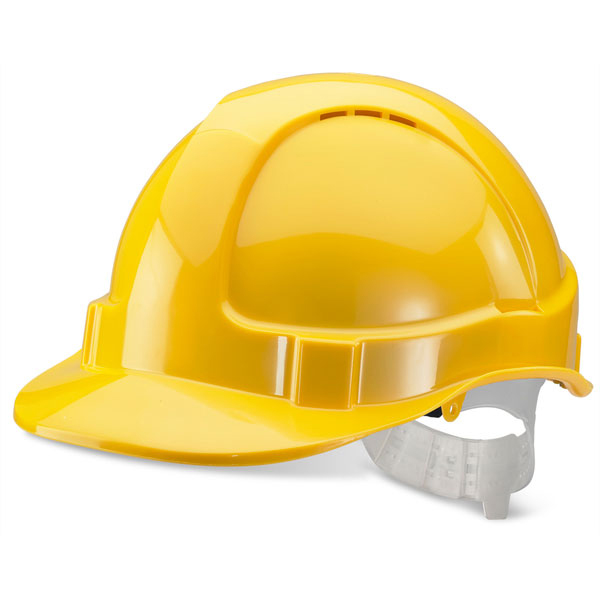 BBrand Economy Vented Safety Helmet Yellow*Up to 3 Day Leadtime*