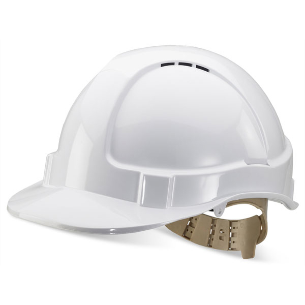 BBrand Comfort Vented Safety Helmet White*Up to 3 Day Leadtime*