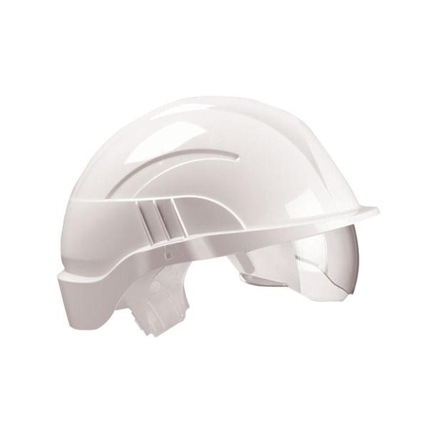 Centurion Vision Plus Safety Helmet Integrated Visor White*Up to 3 Day Leadtime*