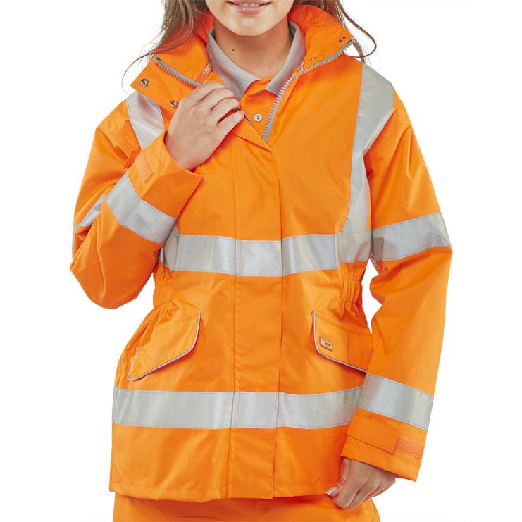 BSeen Ladies Executive Hi-Viz Jacket Orange S*Up to 3 Day Leadtime*