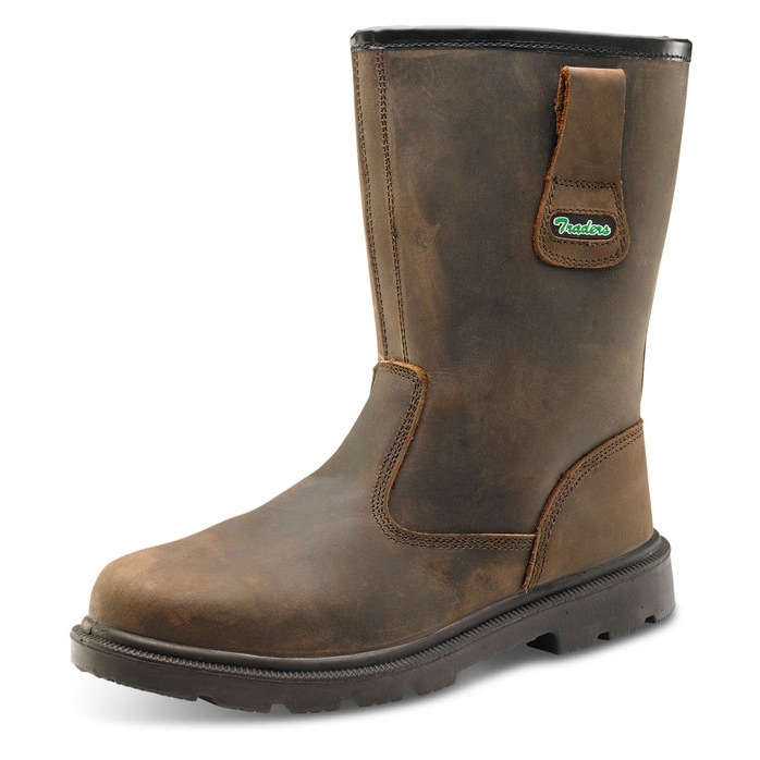 Click Traders S3 PUR Rigger Boot PU/Rubber/Leather Size 6 Brown Ref CTF48BR06 *Up to 3 Day Leadtime*