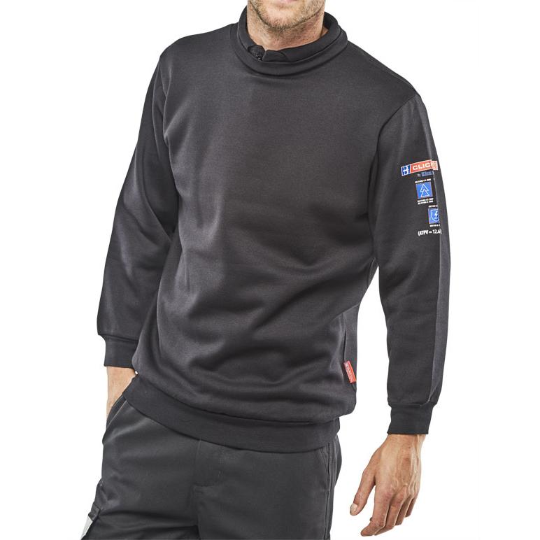 Click Arc Flash Sweatshirt Fire Retardant 4XL Navy Blue Ref CARC3N4XL *Up to 3 Day Leadtime*