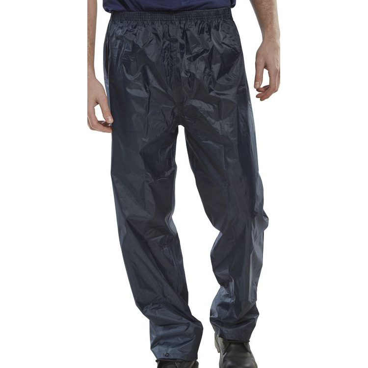 B-Dri Weatherproof Trousers Nylon Lightweight XL Navy Blue Ref NBDTNXL Up to 3 Day Leadtime