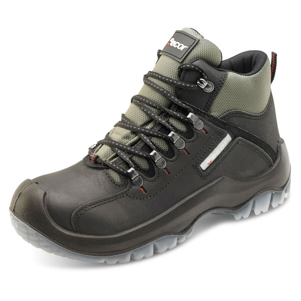 Click Traders Traxion Boot PU/TPU/Leather Steel Toecap 6.5 Black Ref TBBL06.5 *Up to 3 Day Leadtime*