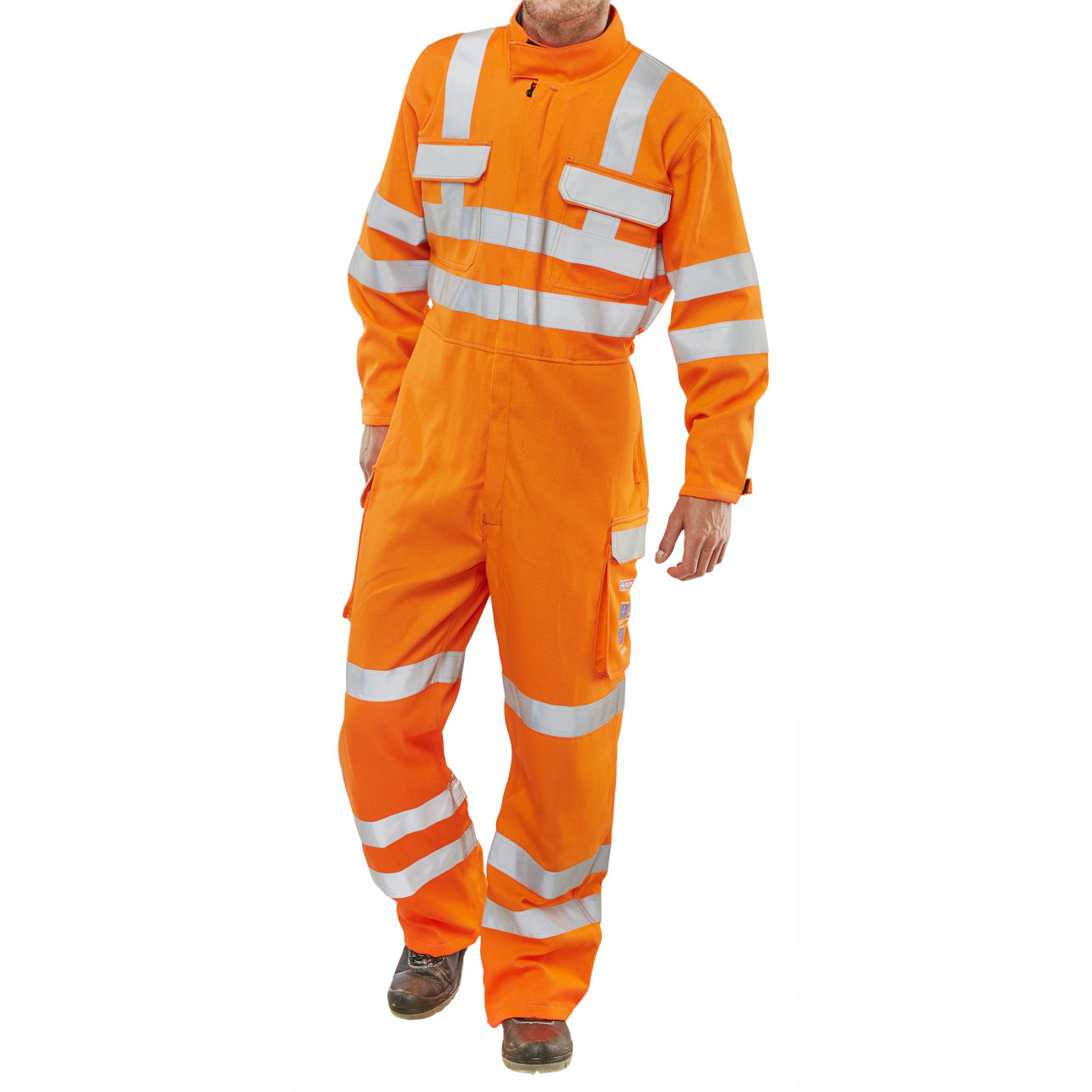 Click Arc Flash Gort Coveralls Go/RT Hi-Vis Size 52 Orange Ref CARC53OR52 *Up to 3 Day Leadtime*