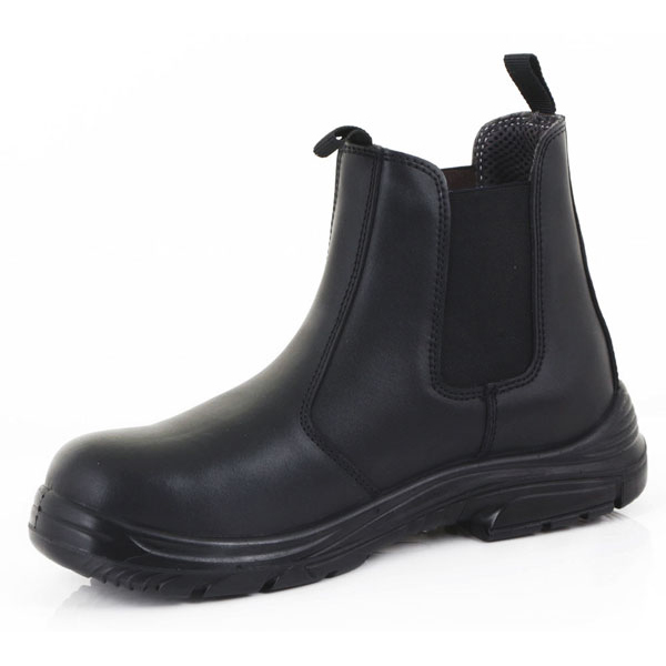 Click Footwear Dealer Boot PU/Leather Steel Toecap Size 3 Black Ref CF16BL03 *Up to 3 Day Leadtime*