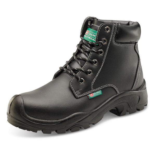 Click Footwear 6 Eyelet Pur Boot S3 PU/Rubber/Leather Size 9 Black Ref CF60BL09 *Up to 3 Day Leadtime*