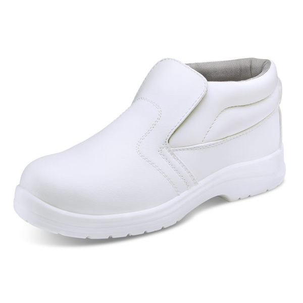 Click Footwear Micro-Fibre Boot S2 Steel Toecap Washable 12 White Ref CF85212 *Up to 3 Day Leadtime*